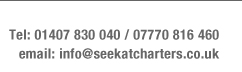 Contact SeeKat commerical charter boats